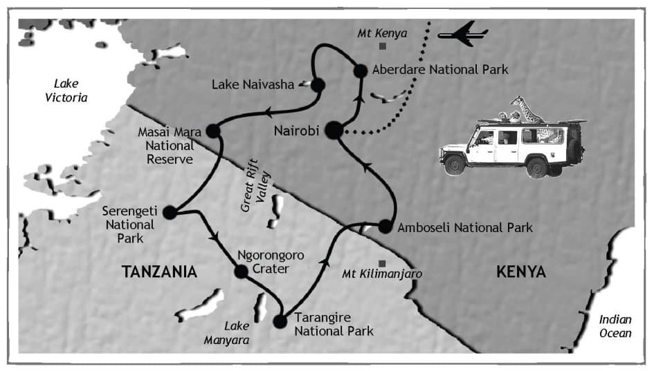 Safari Route map